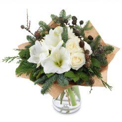 Witte Amaryllis boeket groot