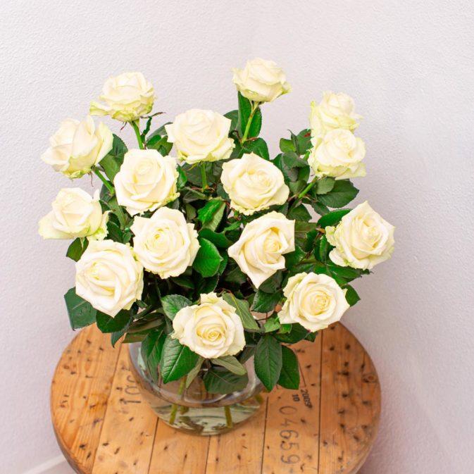Witte rozen per stuk